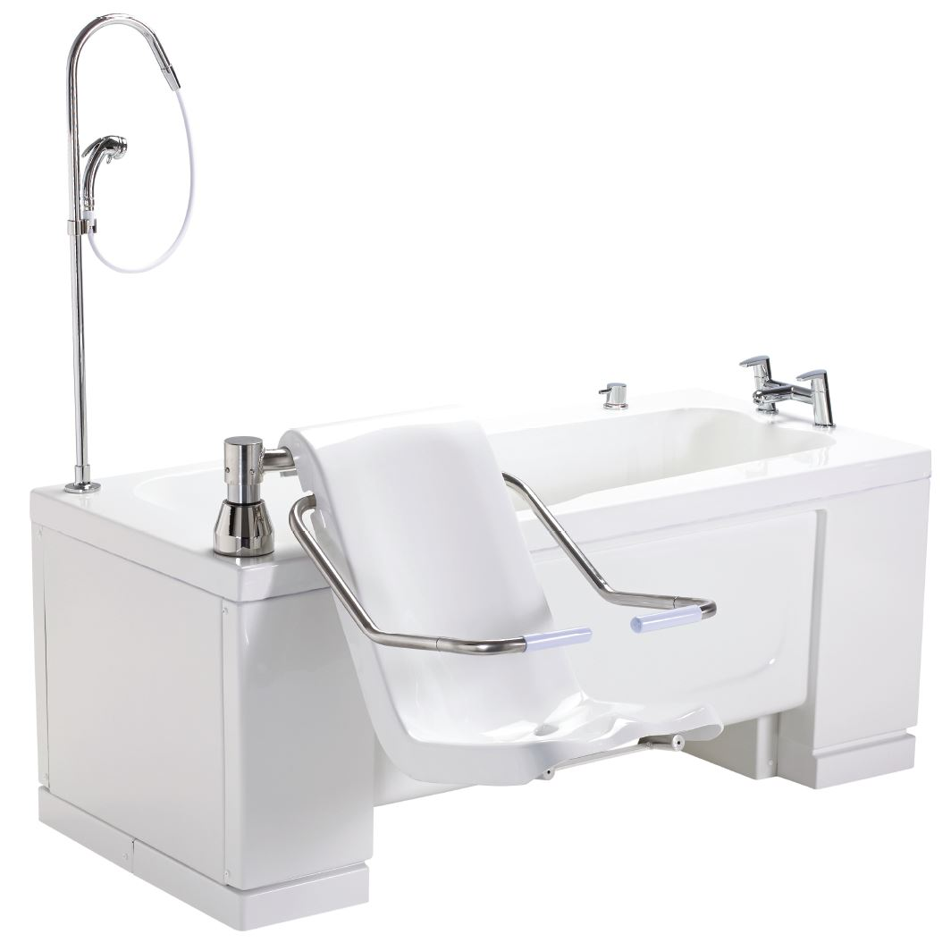 OMEGA 1 care bath with powered lifting seat that also swivels for easy transfer
