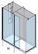 Walk in shower bath replacement package with full height wall panels