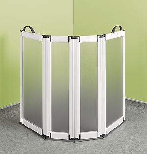 2 And 4 Panel Portable Shower Screens Lightweight Freestanding