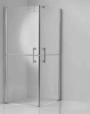 Corner Entry Corner Shower Enclosure With Twin Stable Style Doors