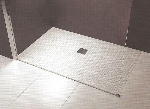 Novellini quattro prefabricated wet room floor former for Wet room mosaic floor tiles