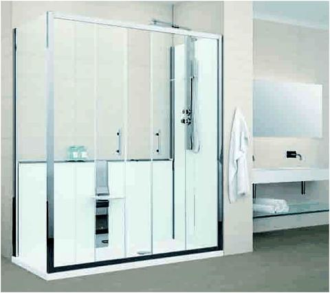 Disabled showers wet rooms shower pods portable shower screens leak free showers for Bathroom shower stall replacement