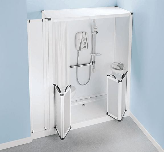 Charming Shower Toilet Cubicle   Self Contained Shower Pod With Built In Toilet And  Wash Basin