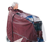 All weather clothing for wheelchair and mobility scooter users