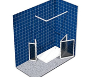 PORTFOLIO disabled shower enclosures with half height doors and panels