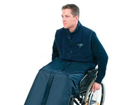 Weatherproof clothing for wheelchair users