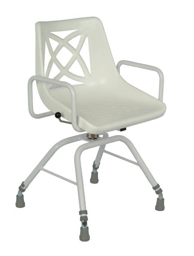free standing swivel shower chair with arms